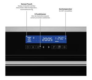 KOLBE EB8015ED Backofen LCD