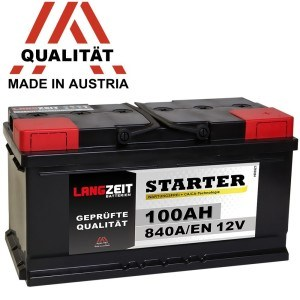 LANGZEIT Autobatterie 12V 100 AH