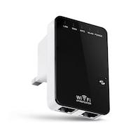 300Mbps Wireless, 2 LAN-Eingänge, AccessPoint, Sicherheitsknopf, Miniaturgröße & Wanddesign