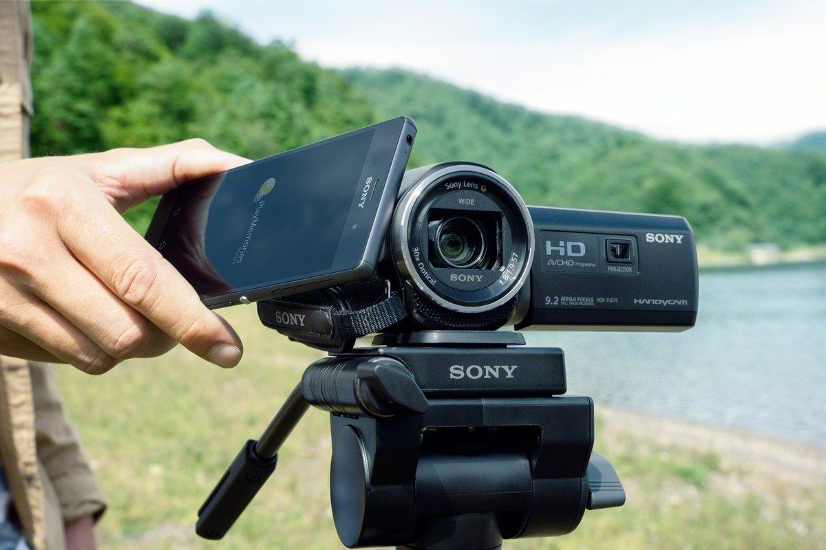 Sony HDR PJ620 Full HD Camcorder Handy Stativ