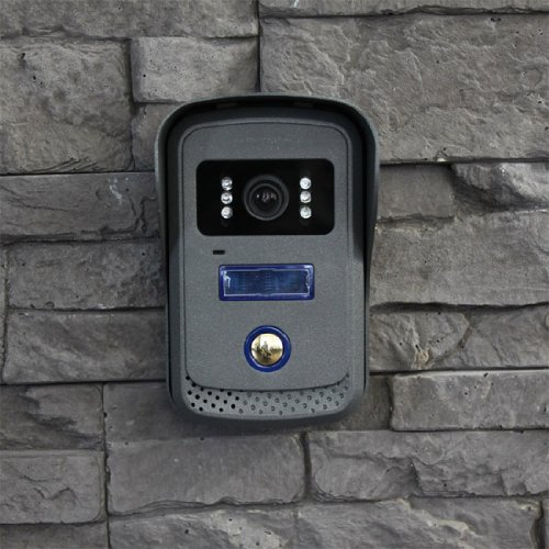 Türsprechanlage TSA4 schwarz-chrom - Komplett-Set mit Aufzeichnung-Speicher-Funktion - Video Gegensprechanlage