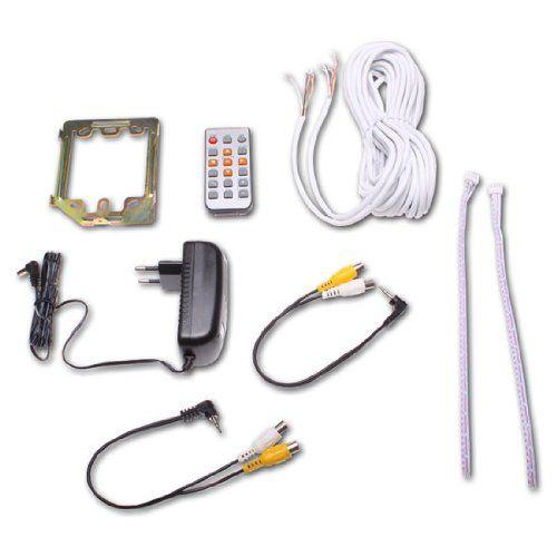 Türsprechanlage TSA4 schwarz-chrom - Komplett-Set mit Aufzeichnung-Speicher-Funktion - Video Gegensprechanlage4