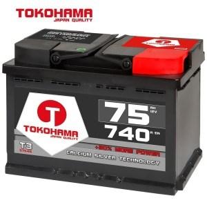 TOKOHAMA Autobatterie 75Ah