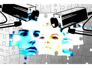 Überwachungskamera zur Überwachung von Objekten in der Darstellung mit Leuten