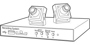 Videoueberwachungssystem mit Überwachungskameras und Aufnahmefunktion