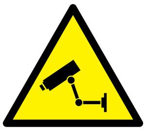 Videoueberwachungssystem Zeichen zur Achtung