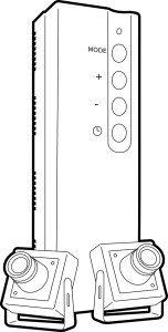 Videoueberwachungssystem mit Überwachungskameras mit Aufnahmefunktion