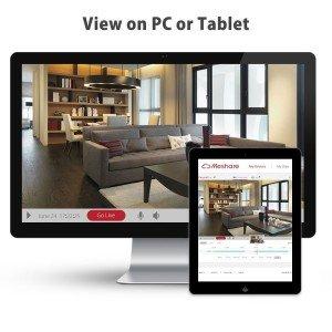 ZMODO CCTV Überwachungsset Verbindung Monitoren zum Beispiel auf PC oder Tablet