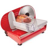 Andrew-James-–-Elektrische-Präzisions-Aufschnittmaschine-Allesschneider-in-Rot-–-19cm-Klinge-+-2-Extra-Klingen-für-Brot-und-Fleisch-–-2-Jahre-Garantie
