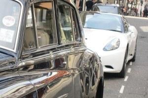Altes Auto poliert