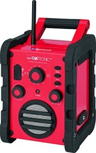 Clatronic BR 835 Baustellenradio (Bluetooth, UKW/MW-Tuner, AUX-In, USB)