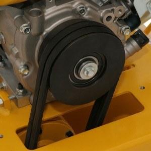 DENQBAR Profi Rüttelplatte mit Benzinmotor mit 20 kN Verdichtungsdruck