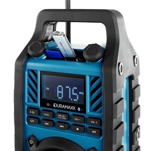 Duramaxx 862-BT-BL Baustellenradio robustes Radio
