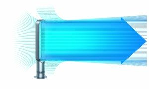 Dyson Air Multiplier AM07 Turmventilator Luftstrom