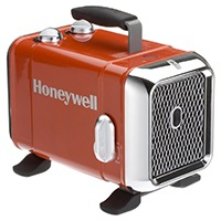 Honeywell HZ-510E Keramik-Heizlüfter in rot-Chrom