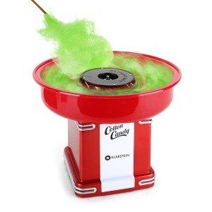 Grüne Zuckerwatte aus der Maschine