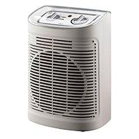 Heizlüfter für Badezimmer, Zwei Leistungsstufen 1200W und 2400W, Silence-Stufe, Thermostat, Kontrollleuchte, Tragegriff