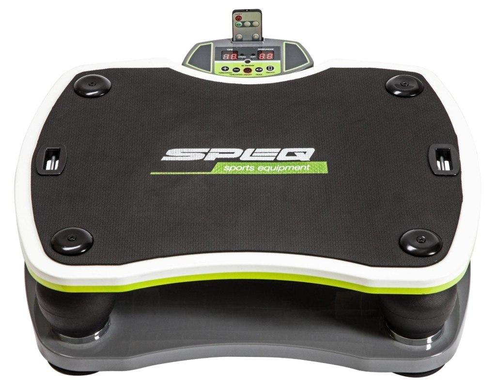 Speq Double Plate Vibrationsplatte schwarz-grün mit Display