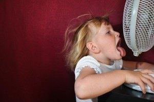 Ventilator und Kind