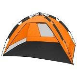 Die CampFeuer - Strandmuschel, orange / grau , UV50+, Automatik Strand Zelt, beach tent wurde auf den 4. Platz gewählt.