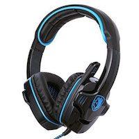 7.1CH Surround Sound Stereo Headset PC Gaming Kopfhörer mit USB-Stecker und Mikrofon.