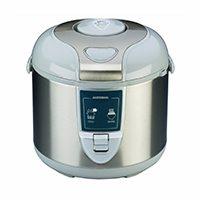 Design Reiskocher automatisches Zubereiten von Reis - kein Überkochen die natürlichen Inhaltsstoffe, Mineralien und Vitamine bleiben erhalten Abschaltautomatik, Warmhaltefunktion, Kontrollleuchte 3 Liter Volumen