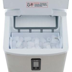 H.Koenig KB15 Eiswürfelmaschine circa 15 kg Eiswürfel pro Tag, 3 Eiswürfelgrößen wählbar, silber