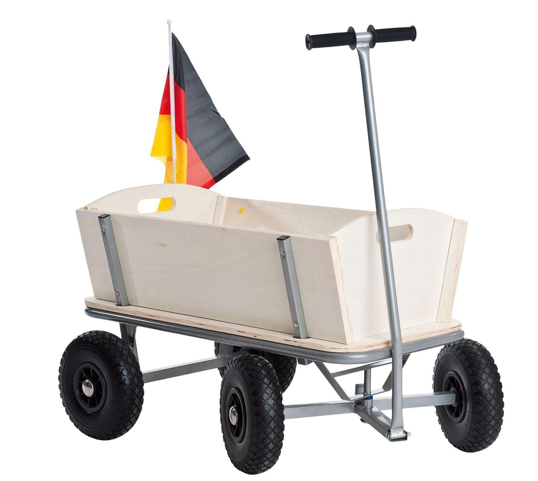 Holz Bollerwagen Mit Halterung 2