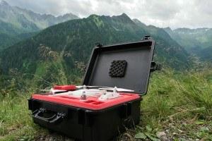 Koffer für den Transport eines Quadrocopters