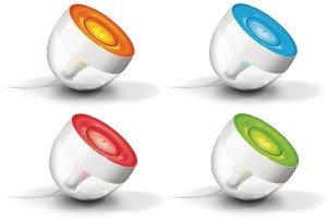 Philips Living Colors Iris, Energiesparende LED-Technologie mit 10 Watt, 16 Millionen Farben, mit Fernbedienung, klar 7099960PH [Energieklasse A]