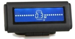 Profi-Einparkhilfe mit 8 schwarzen Sensoren für Front & Heck, PDC