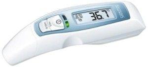 Anzeige eines Ohrthermometers von Sanitas