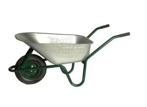 Schubkarre Bauschubkarre grün 100 Liter Vollgummirad
