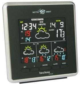 Technoline Premium WetterDirektStation WD 4026, schwarz-silber, 2-teilig bestehend aus Station und Sensor