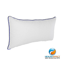 Health Effect Wasserkissen. Der Härtegrad des Kissens kann stufenlos über die Füllmenge in weich, mittel oder fest reguliert werden.