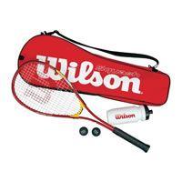 Der Squashschläger Wilson Squashset Squash Starter Kit, rot belegt Platz 5 im Praxistest  2017