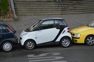 Eingeparkte Autos