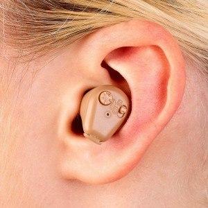 newgen medicals Bügelloser ITE-Hörverstärker mit Akku