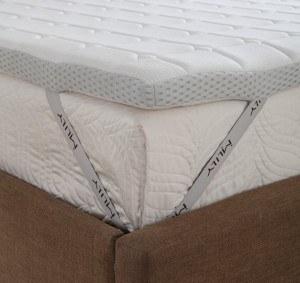 Ebitop Ebi - A 180.7 Mlily Traum- Schlaf Matratzenauflagen, Auflage, Visko-Matratzenauflage, viscoelastische Topper 180x200x7 cm, weiß
