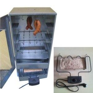 Elektrischer Räucherofen aus Edelstahl mit Sichtscheibe inkl. Heizung und Thermometer Räucherschrank