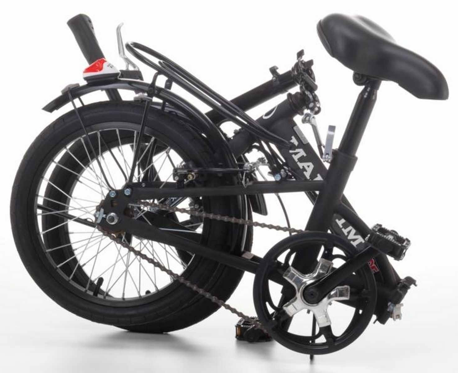 Fahrrad Klappbar Aus Emalliertem Stahl