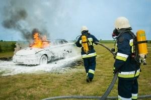 Feuerlöschen Auto