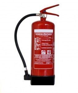 Feuerlöscher 6 Liter Schaum mit Halterung und Symbolschild