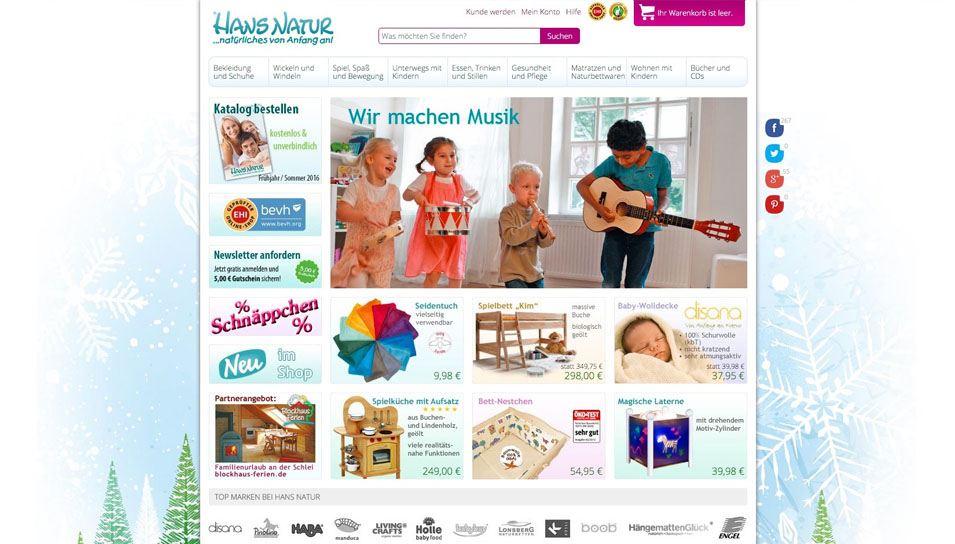 Baby Online Handel Hans Natur