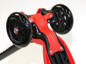 MAXOFIT, 4-Rad Scooter - Kickboard rot, höhenverstellbar