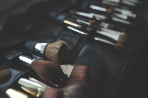 Make-Up-Pinsel in verschiedenen Formen