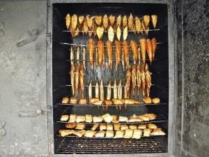 Räuchern von Fleisch