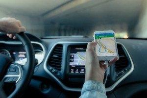 Smartphone mit GPS App