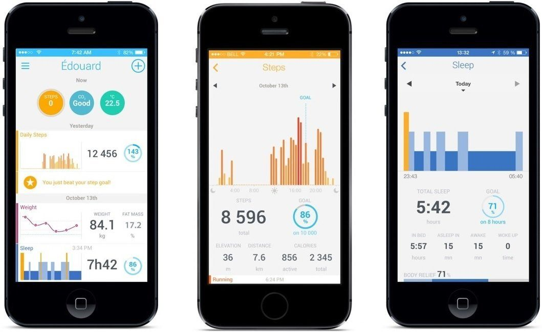 Verschiedene Handys mit Apps