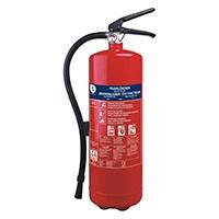 Dieser Pulver-Feuerlöscher von Smartwares ist geeignet zum Löschen von kleinen Bränden in Autos, Booten, Wohnwagen, Schuppen oder Werkstätten.